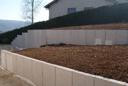 Mur de sout nement - Mur de soutenement en beton ...
